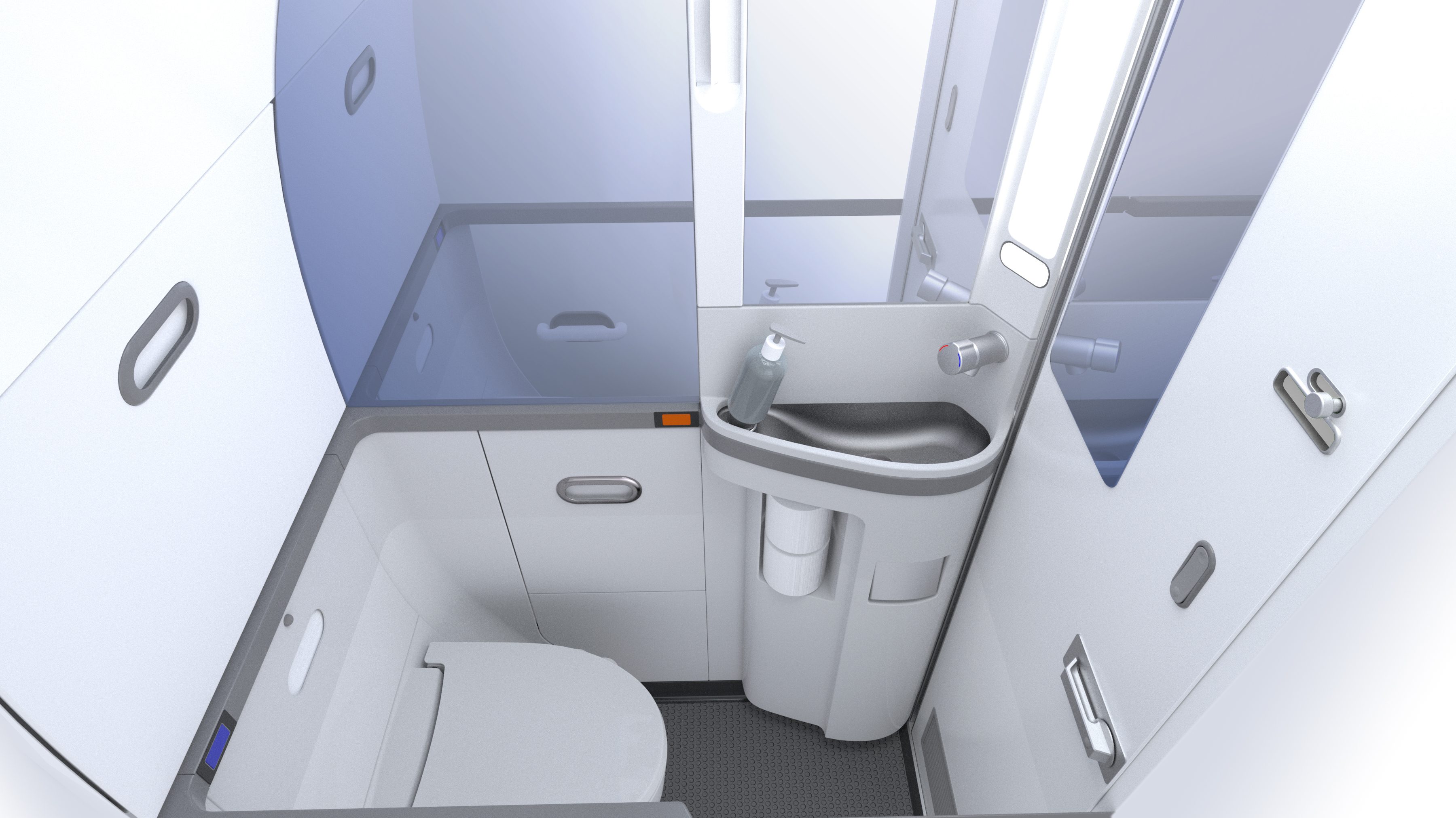 Toilet Design 737 Advanced Lavatory Aircraft Lavatories Rockwell Collins