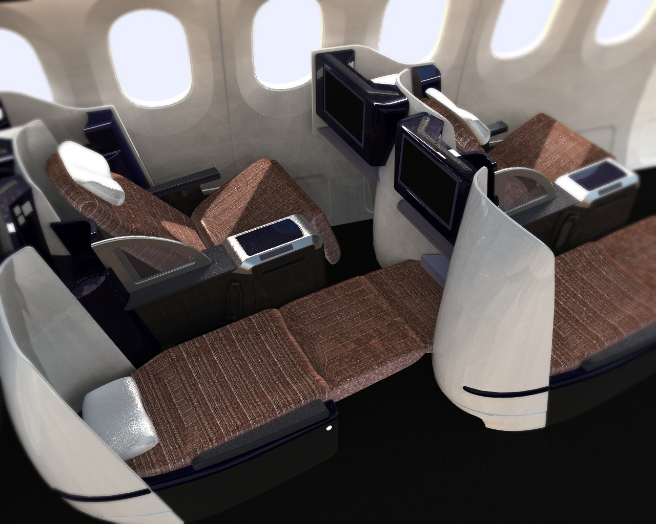 Diamond Full Flat Airline Seating Rockwell Collins